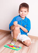 Boy at home — Stock Photo