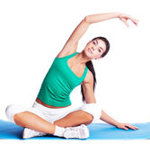 Girl stretching — Stock Photo