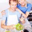 Couple cooking — Stock Photo #7956563