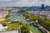 Luchtfoto van parijs — Stockfoto