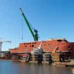 Ship construction — Stock Photo