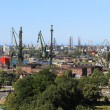 Shipyard and port in Gdansk, Poland — Stock Photo