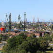 Shipyard and port in Gdansk, Poland — Stock Photo #6837828