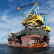 Floating crane vessel - Stock Photo