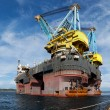 Stock Photo: Floating crane vessel