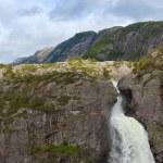 cascada de manafossen — Foto de Stock