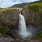 Manafossen waterfall — Stock Photo