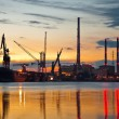Industrial view at sunset — Stock Photo