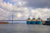 Large tugs in port — Stock fotografie