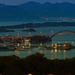 Stavanger at night — Stock Photo