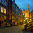 Stock Photo: Historic street in Gdansk at night