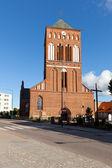 Vieja iglesia histórica en swidwin — Foto de Stock