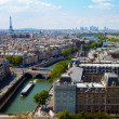 Постер, плакат: Top view river Seine