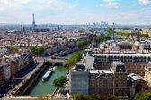Top view river Seine — Stock Photo