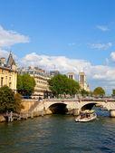 река сена в париже — Стоковое фото