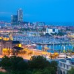 Barcelona, Spain skyline at night — Stock Photo #7148012