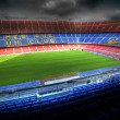 The Camp Nou stadium in Barcelona, Spain - Stock Photo