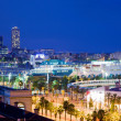 Barcelona, Spain skyline at night — Stock Photo #7148017