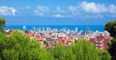 Downtown panorama of Barcelona, Spain — Stock Photo