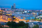Barcelona, Spain skyline at night — Stock Photo