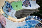 Mozaika rzeźby w parc güell, barcelona — Zdjęcie stockowe