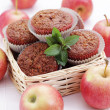 Muffins with apple - 图库照片