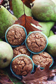 Muffins with pear — Stock Photo