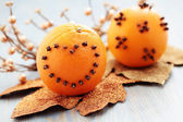 Oranges with cloves — ストック写真