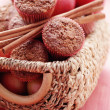 Muffins with apple - Stockfoto