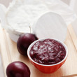 Chutney plum with cheese - Stockfoto