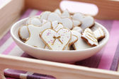 White gingerbreads — Foto Stock