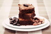 Delicious brownie — Stock Photo