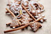 Gingerbreads with cinnamon — Stock Photo