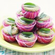 Green tea muffins — Stock Photo #7553434