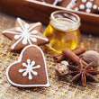 Gingerbreads with spices — Stock Photo #7601855