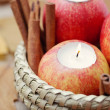 Apple as candlestick - 图库照片