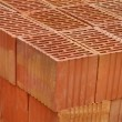Closeup of perforated clay blocks — Stockfoto