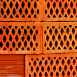 Closeup of perforated clay blocks — Stock Photo #6888838