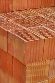 Closeup of perforated clay blocks — Stock Photo