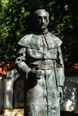 Statue of Antoni Rewera in Sandomierz, Poland. — Stock Photo
