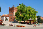 The view of Sandomierz downtown at daylight. Poland. — Zdjęcie stockowe