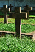 Old military cemetery in Sandomierz, Poland — Stock Photo