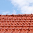 Tiles on the roof - Foto Stock