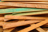 Heap of planks for construction — Stock Photo