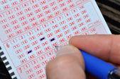Lottoschein — Stockfoto