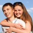 Portrait of happy young teenagers — Stock Photo #7295490