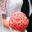 Royalty-Free Stock Photo: Wedding bouquet of pink roses