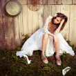 Lonely bride at one with their life problems — Stock Photo #7314905