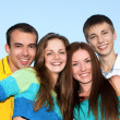 Portrait of happy young teenagers — Stock Photo #7315045