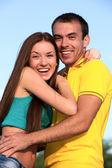 Porträtt av glada unga tonåringar — Stockfoto